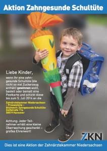 Zahnärztekammer Niedersachsen: Aktion Zahngesunde Schultüte