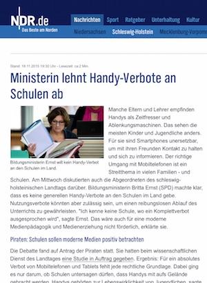 In der Diskussion: Handy-Verbote an Schulen in Schleswig-Holstein