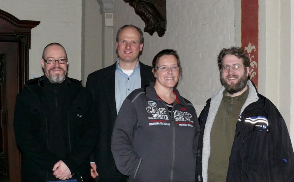 Vorstand des Kreiselternrates 2015-2017. M. Häde, J. Herrmann, M. Bleeker-Ostermann, M. Kretz (v.l.)